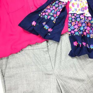 J Crew Gray Cafe Capri career office style pants